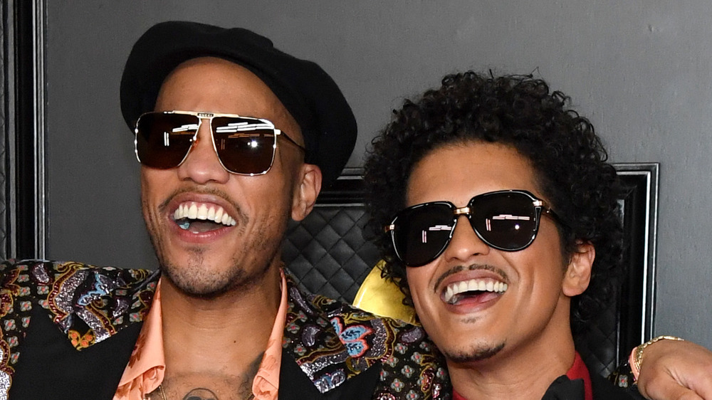 Anderson .Paak and Bruno Mars on the Grammy red carpet