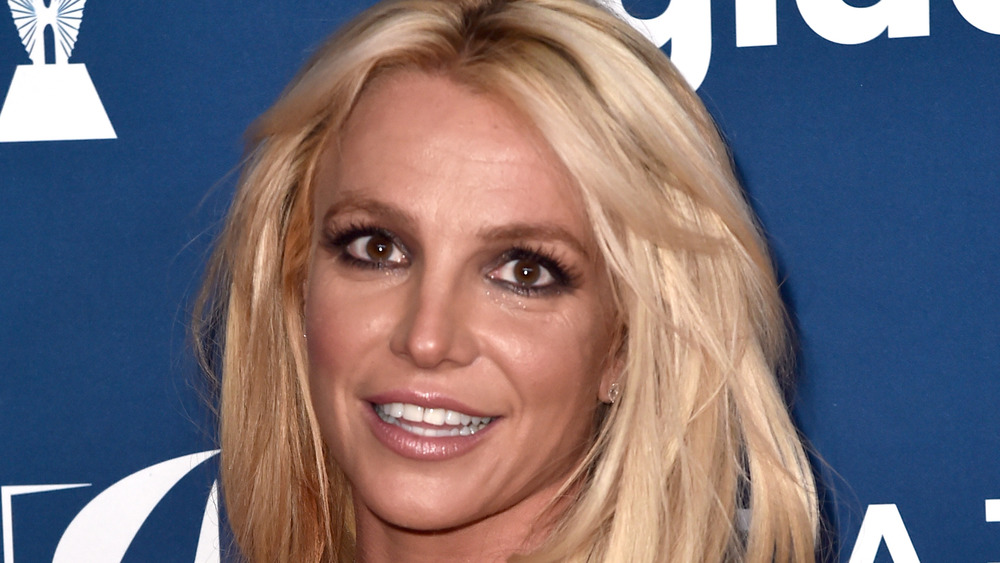 Britney Spears posing at an event