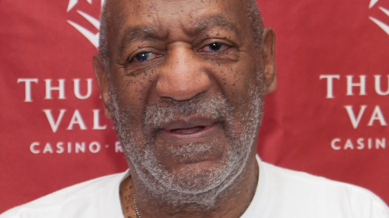Bill Cosby at a press conference
