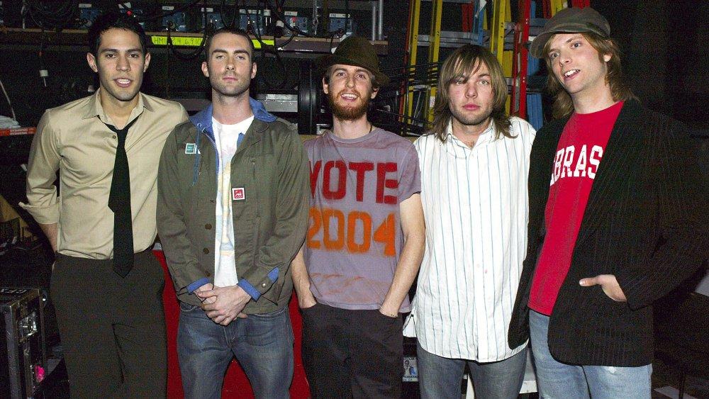 Maroon 5 backstage at TRL's Breakout Stars Week