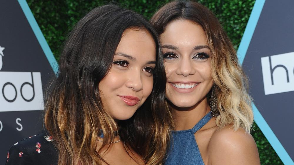 Stella and Vanessa Hudgens smiling