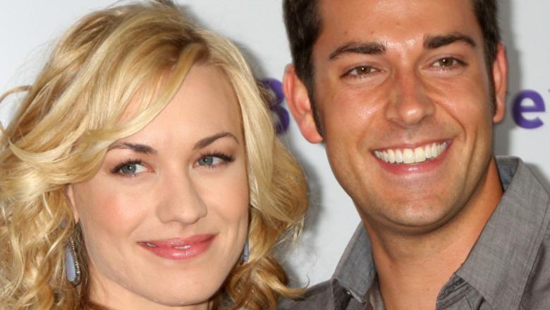 Yvonne Strahovski and Zachary Levi smiling