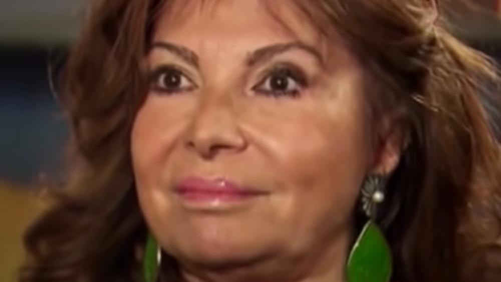 Patrizia Reggiani during interview