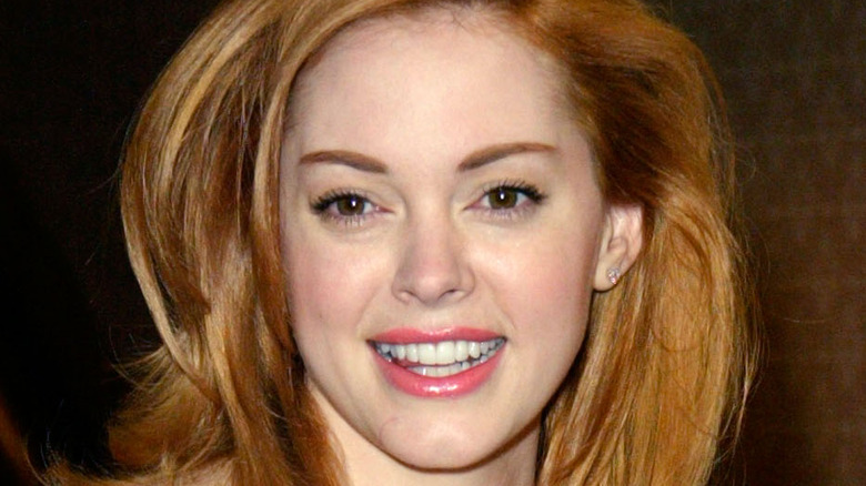 Rose McGowan smiling
