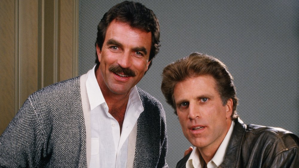 Tom Selleck and Ted Danson posing for a portrait in 1988