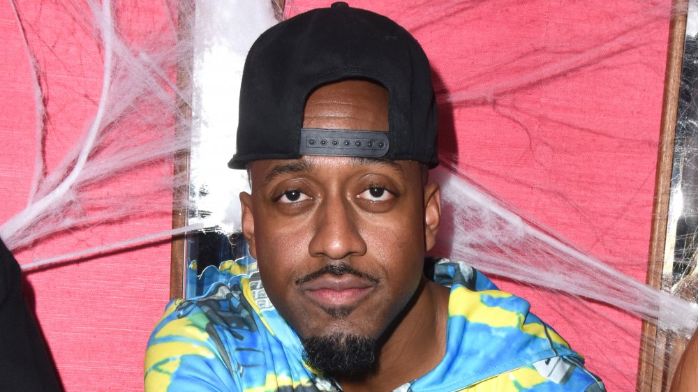 Jaleel White with backwards cap and goatee
