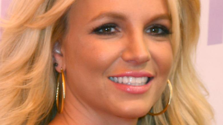 Britney Spears hoop earrings