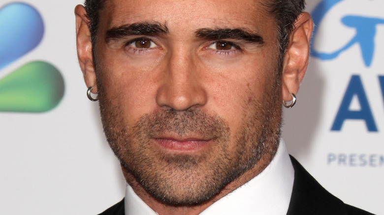 Colin Farrell with a serious expression