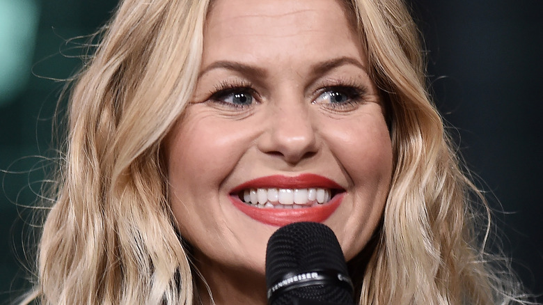 Candace Cameron Bure talking on stage