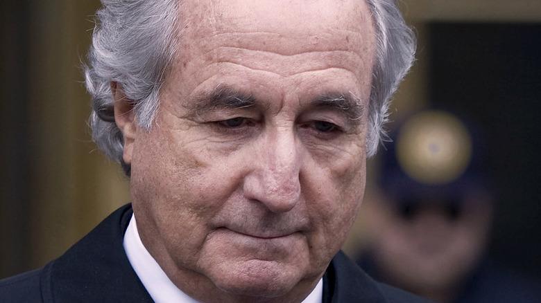 Bernie Madoff walking after arrest