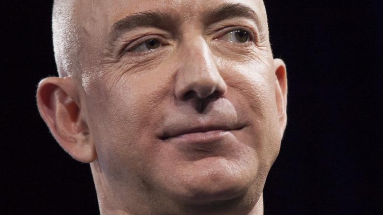 Jeff Bezos posing
