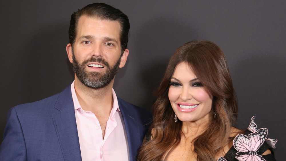 Donald Trump Jr. and  Kimberly Guilfoyle pose together