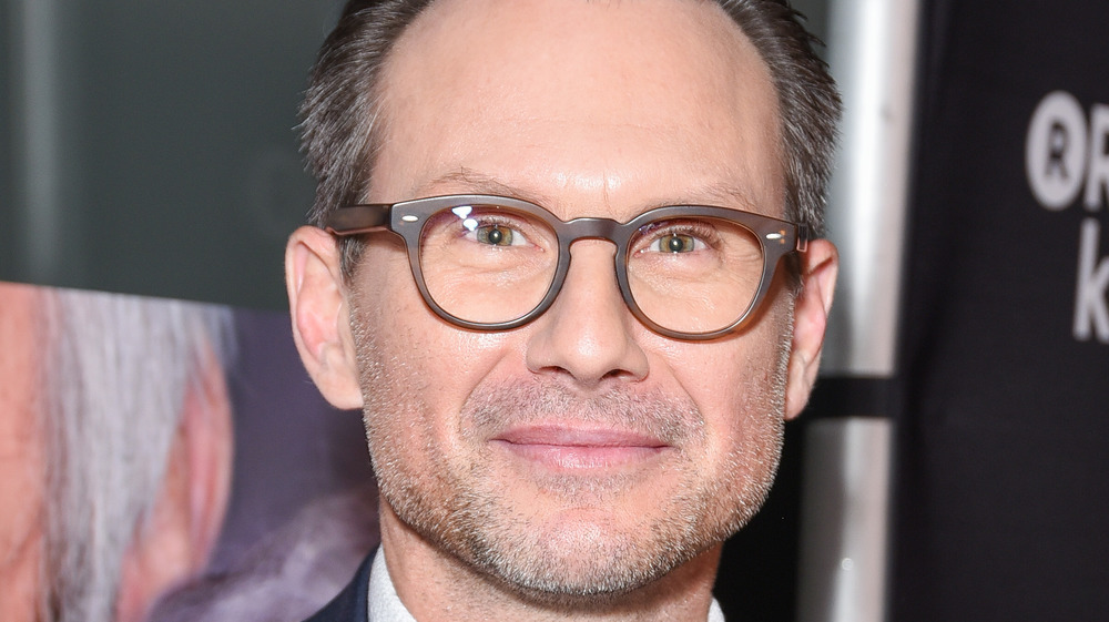 Christian Slater with glasses