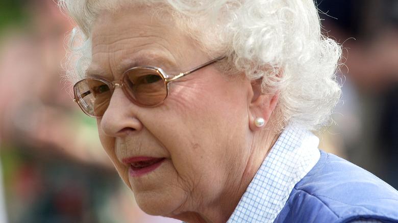 Queen Elizabeth wearing casual clothes
