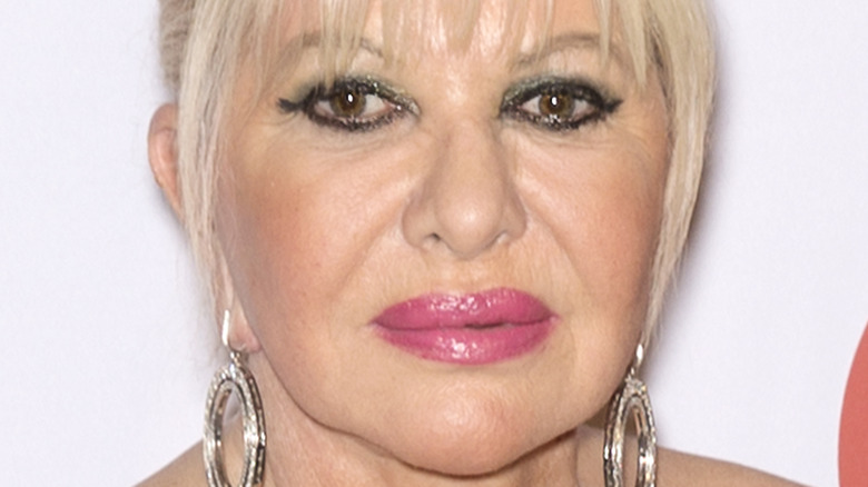 Ivana Trump with a neutral ecpression
