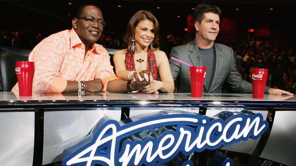 Randy Jackson, Paula Abdul, Simon Cowell at the judge's table