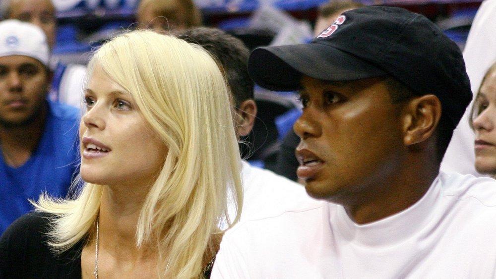 Elin Nordegren and Tiger Woods