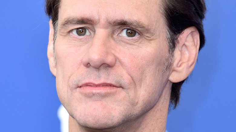 Jim Carrey with a serious expression