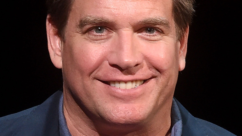 Michael Weatherly smiling