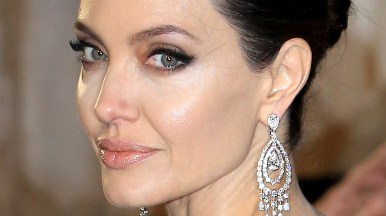 Angelina Jolie gazing in front