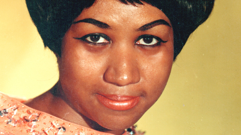 Aretha Franklin gazing in front