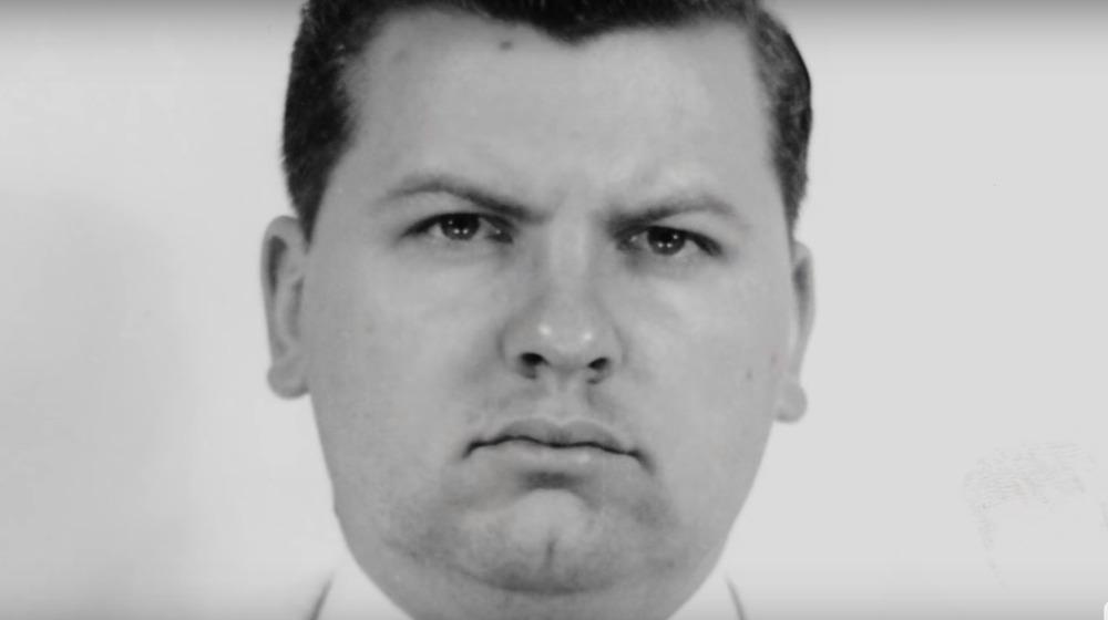 John Wayne Gacy looks stern in a file photo