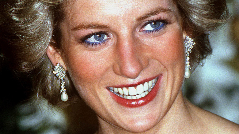 Princess Diana red lipstick