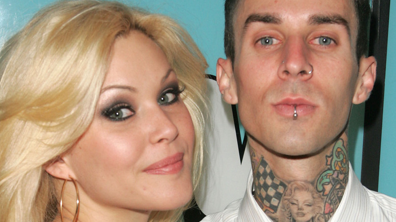 Shanna Moakler and Travis Barker make an appearance on MTV's Total Request Live