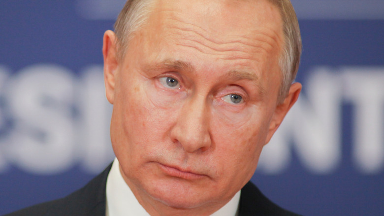 Vladimir Putin, the President of Russian Federation at Palace of Serbia 2019