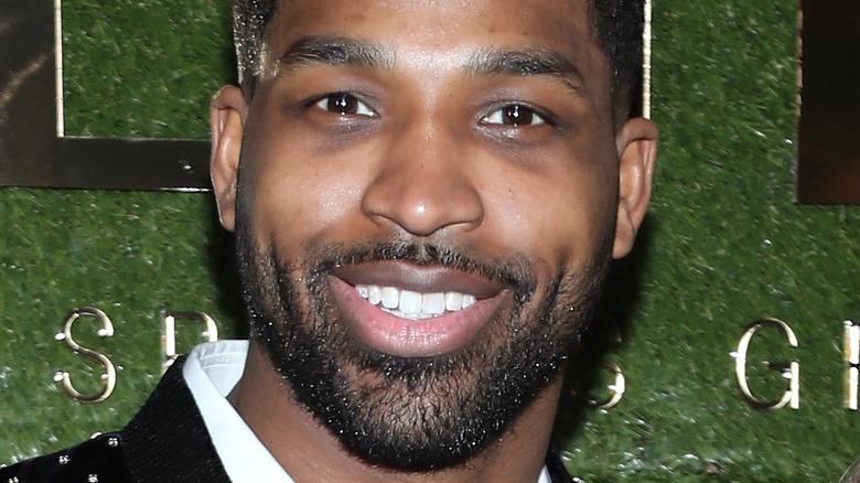 Tristan Thompson smiling