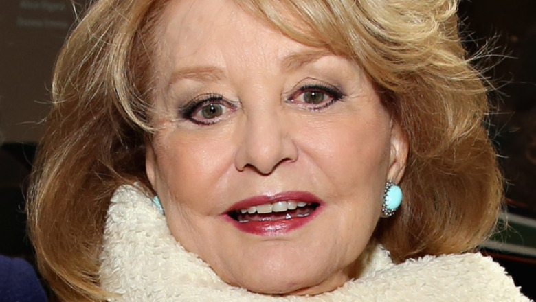 Barbara Walters smiling on red carpet