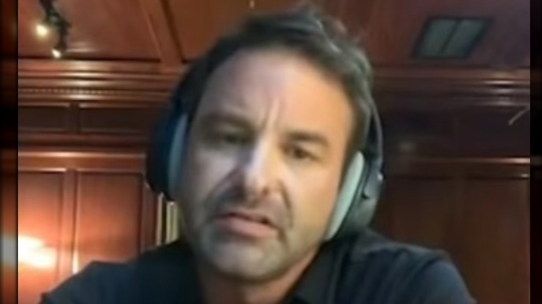 Bryan Spears, talking on a podcast, 2020 photo