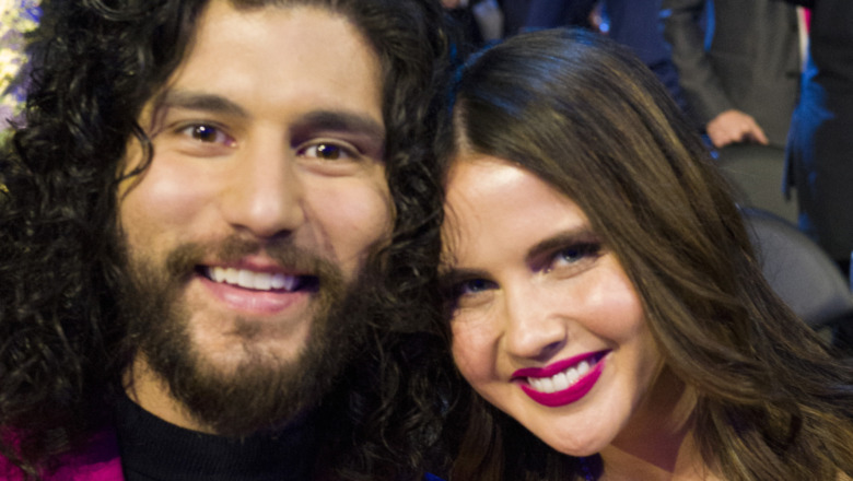 Dan Smyers and Abby Law attend the Grammys