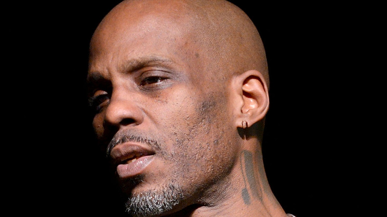 DMX performing on stage