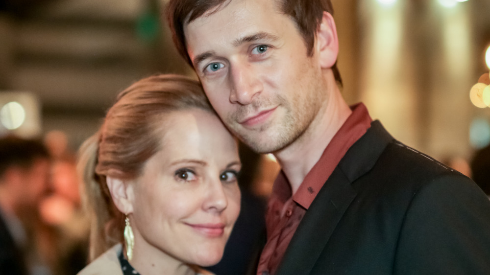Emma Caulfield and Mark Leslie Ford posing