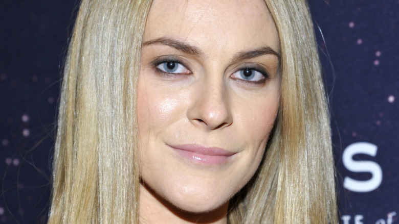 Leah McSweeney, barely smiling, blond straight hair, 2013 red carpet