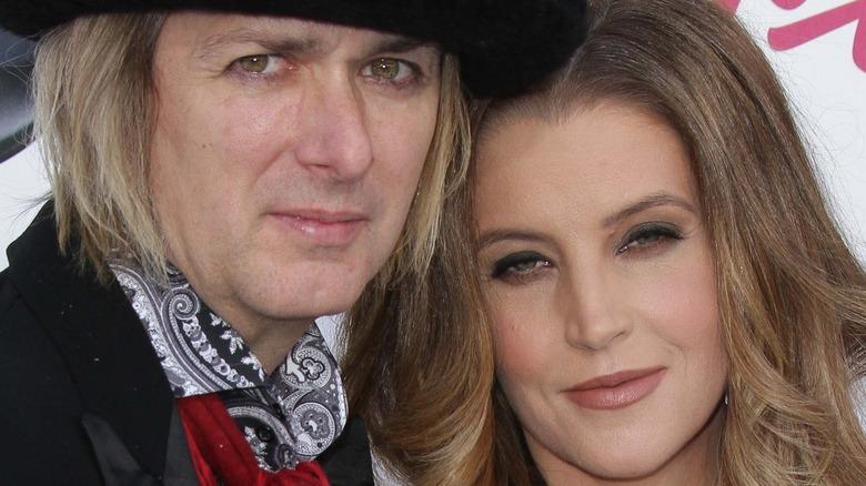 Michael Lockwood and Lisa Marie Presley posing