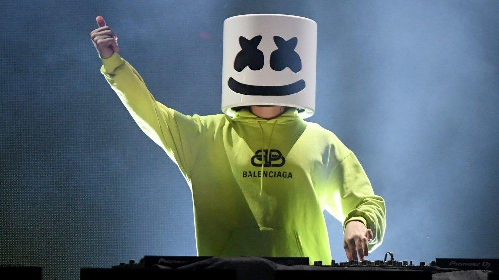 DJ Marshmello with his helmet