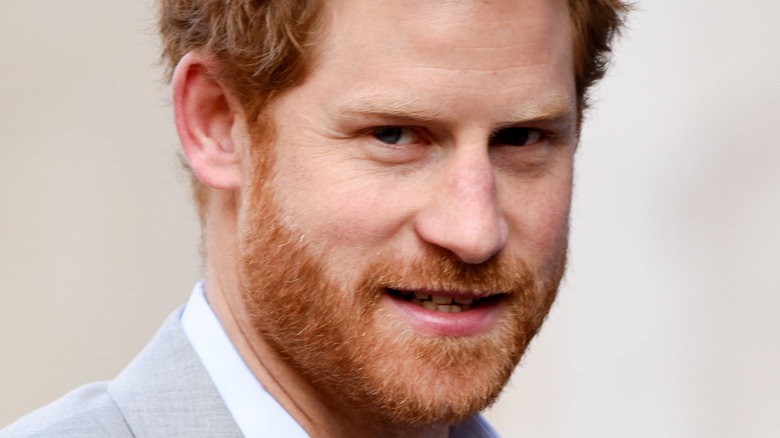 Prince Harry small smile