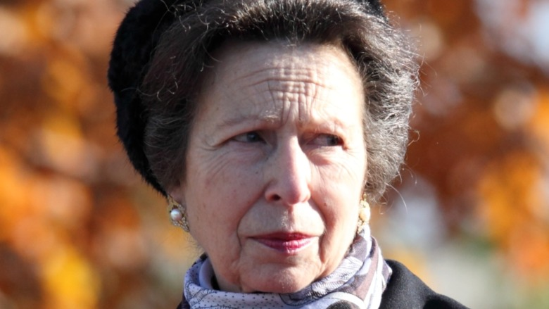 Princess Anne at horse racing event