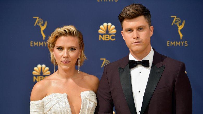 Scarlett Johansson & Colin Jost