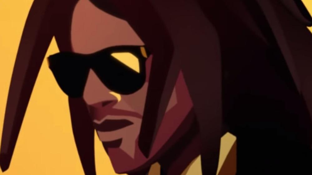 Cartoon Lenny Kravitz super bowl stella artois commercial