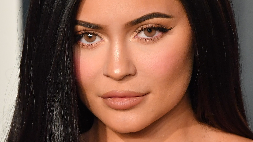 Kylie Jenner smoldering at a Hollywood event