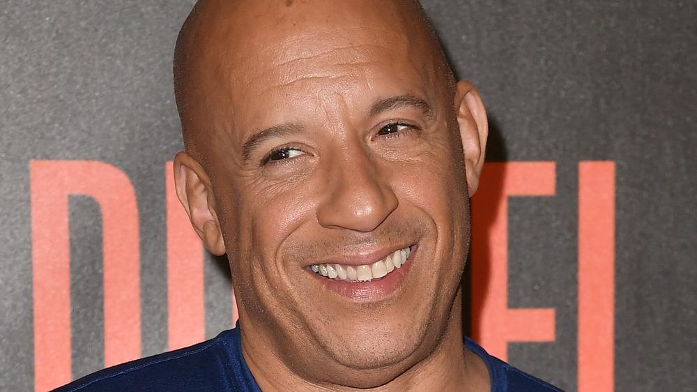 Vin Diesel smiling at the Bloodshot premiere