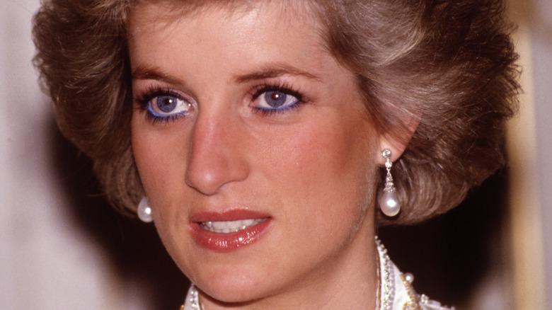 Princess Diana at Elysee Palace 1988