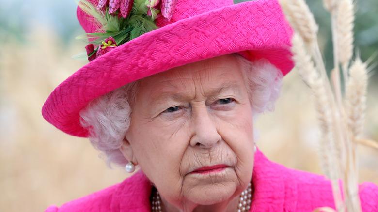 Queen Elizabeth II pink hat