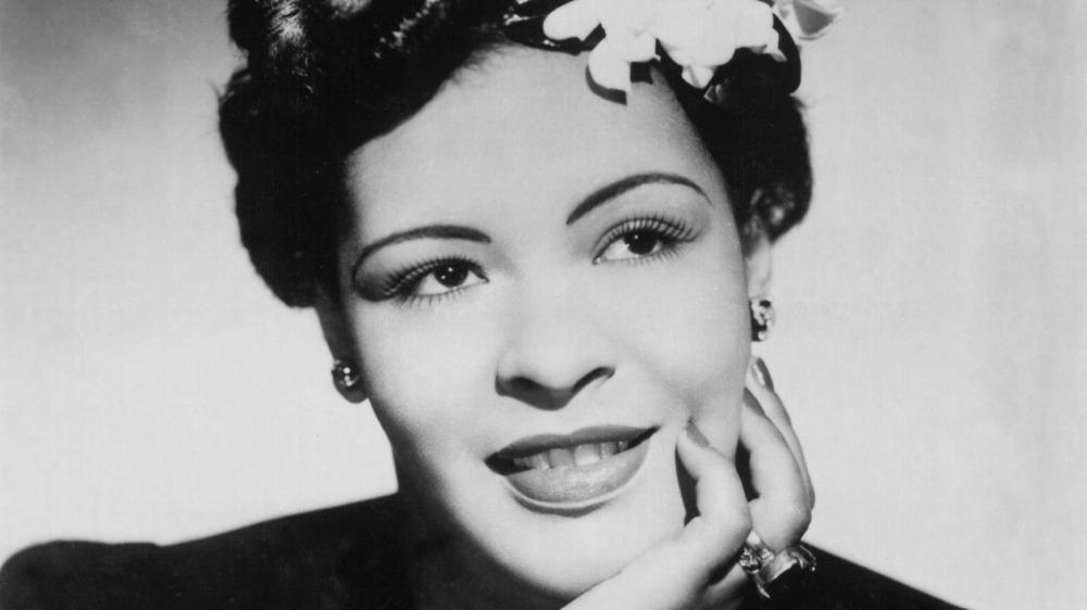 Billie Holiday smiling