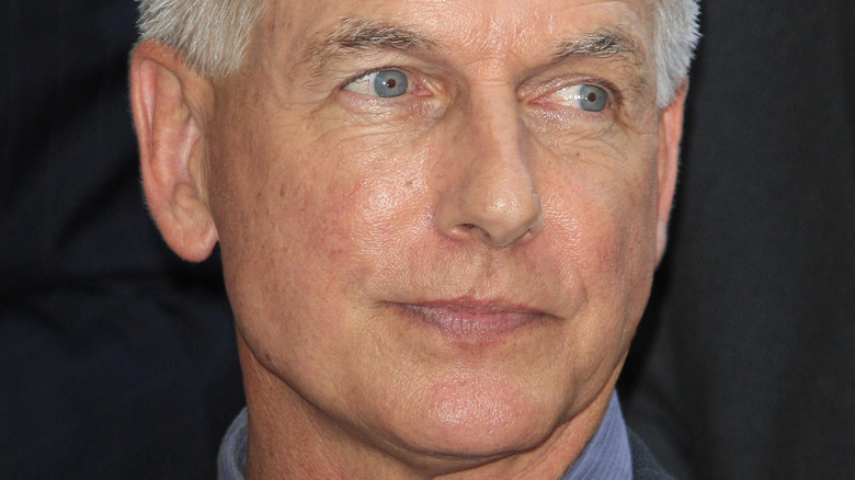 Mark Harmon looking to the side
