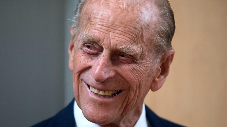 Prince Philip smiles in 2015