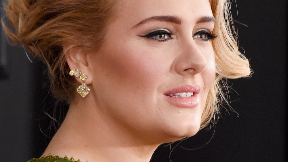 Adele at the 59th Annual Grammy Awards